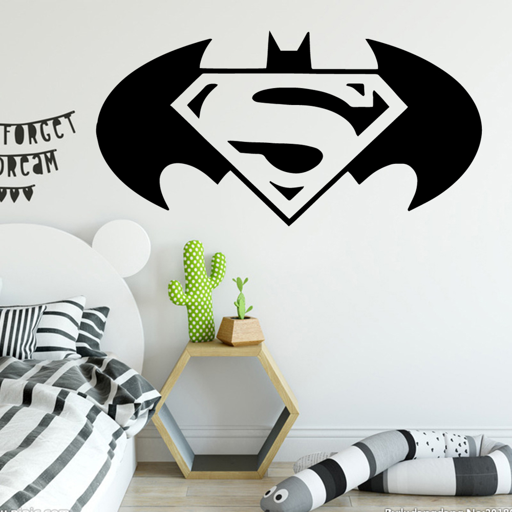 Cartoon Style bat Wall Stickers Animal Lover Home Decoration For Kids Room Decoration Diy Pvc Bedroom Mural muursticker in Wall Stickers from Home Garden
