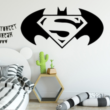 Cartoon Style bat Wall Stickers Animal Lover Home Decoration For Kids Room Diy Pvc Bedroom Mural muursticker