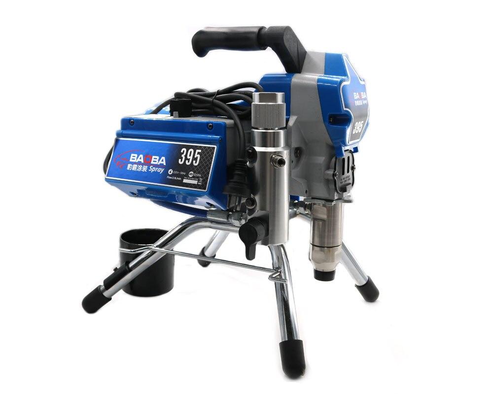 Profesional Máquina de Pintura Elétrica Pulverizador Pintura Airless PISTÃO 390 395 com 2200 w motor de fábrica venda diretamente
