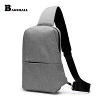 BAGSMALL Marke Brust Taschen männer Kleinen Rucksack Diebstahlsicher Crossbody Tasche Nylon Mode Schlinge Wasserdichte Reisetasche Frauen