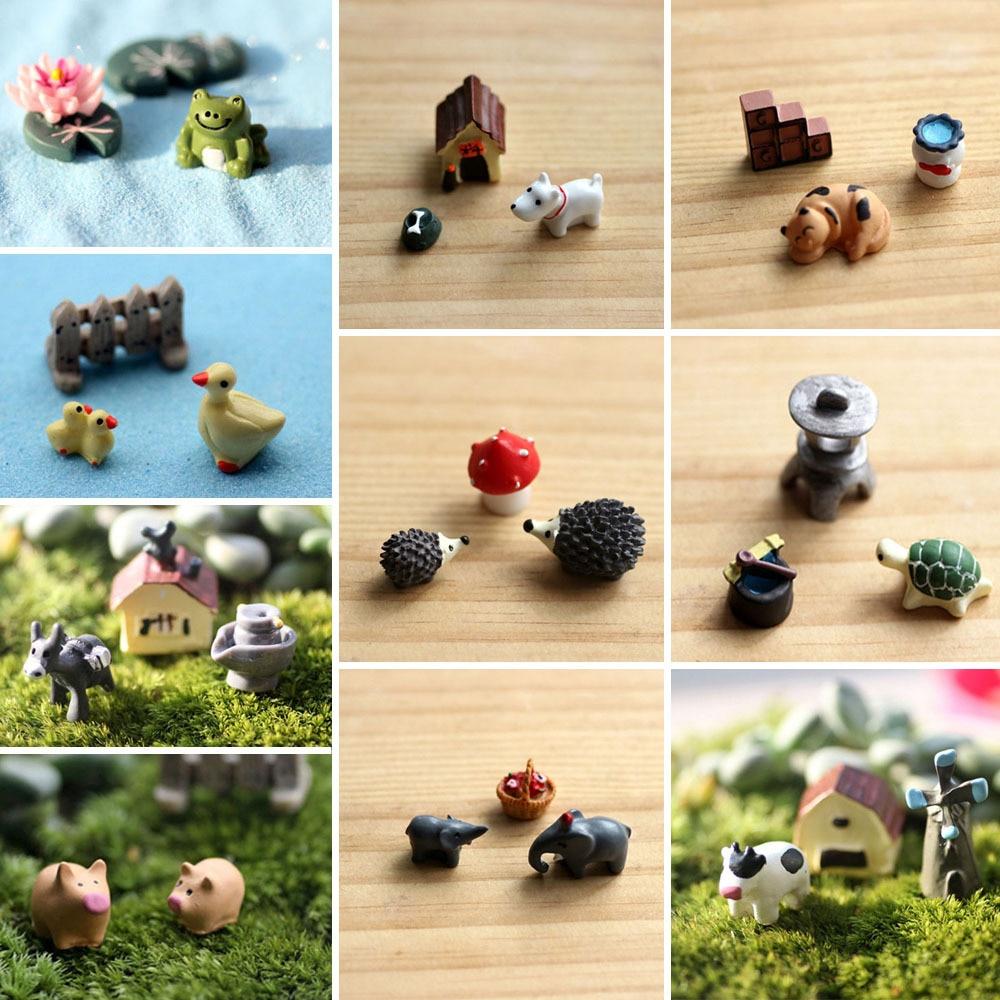 Wholesale 3pcs Set Cute Resin Crafts Decorations Miniature