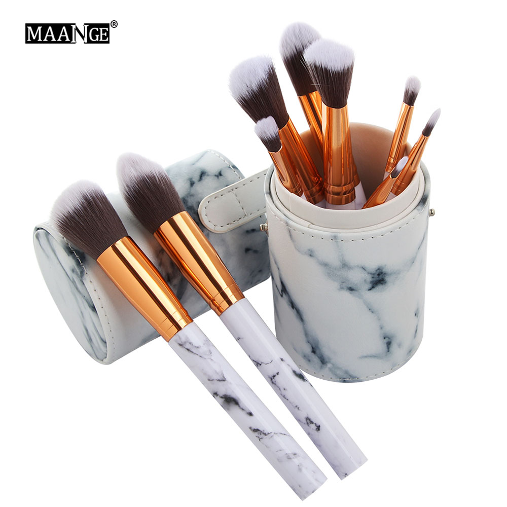 Aliexpress Com Buy 10pcs Set Pro Marbling Makeup Brushes