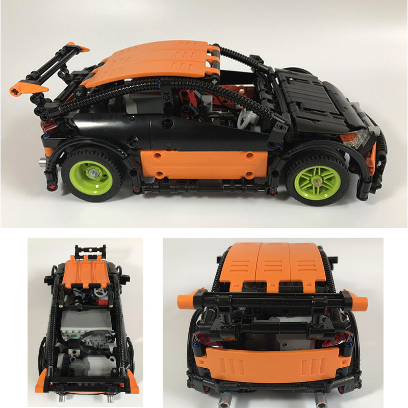 Lepin 20053 Genuine 640PCS New Series The Hatchback Type R Set MOC-6604 Building Blocks Bricks Educational Toys Boy Gifts Model lepin 20053 genuine new technic series the hatchback type r set moc 6604 building blocks bricks educational toys boy gifts model