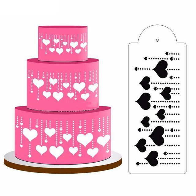 29510cm heart snowflower cake fondant cupcake decorating baking 29510cm heart snowflower cake fondant cupcake decorating baking templates stencil birthday christmas wedding decoration junglespirit Choice Image