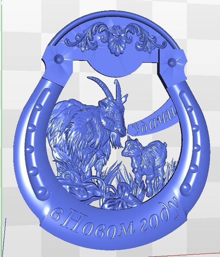 3d Model Goat_5 Relief  For Cnc In STL File Format