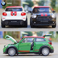 1:32 Mini Cooper Car Model Pull Back Diecast Metal Alloy Electronic Car Toy Boy Favorite Simulation Vehicles Juguetes