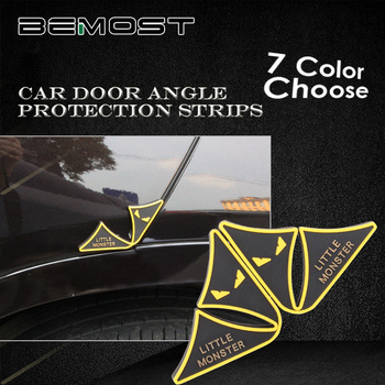 цена на BEMOST Car Door Angle Guard Scratch Strip Protector Anti-Rub Strips Stickers Rubber Trim Moulding Car Styling Decals For SUV