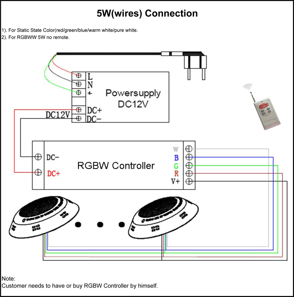 5W(wires) Connection