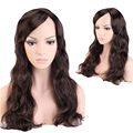 "Women Girl's 19"" Dark Brown Long Curly Cosplay Wig Party Wigs Synthetic Halloween Costume Fancy Dress Full Hair Wigs"