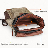 Camera Bag Backpack Waterproof Photography Outdoor Water Resistant Canvas Bag UY8