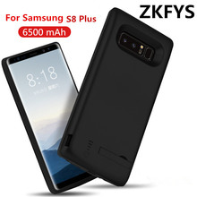 ZKFYS 6500mAh Portable Thin and light Power Bank For Samsung Galaxy S8 Plus Fast Phone Charger Battery Case