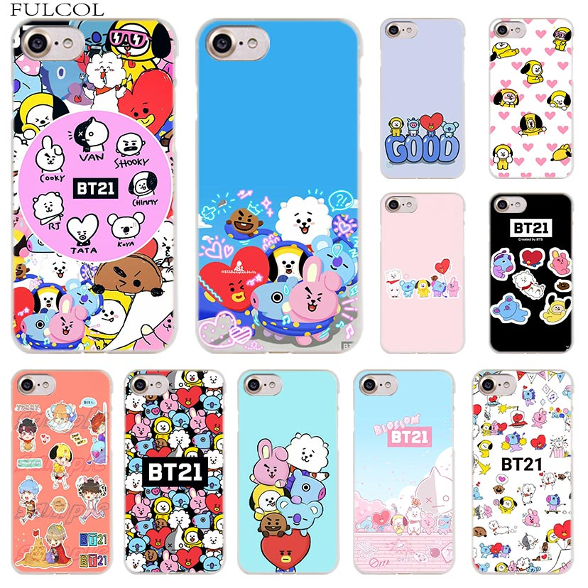 Phone Bags & Cases Good Fulcol Cute Bts Bt21 Transparent Hard Case Cover For Iphone Xs Max Xr 8 7 6s 6 Plus 5 5s Se 5c 4s 4 Half-wrapped Case