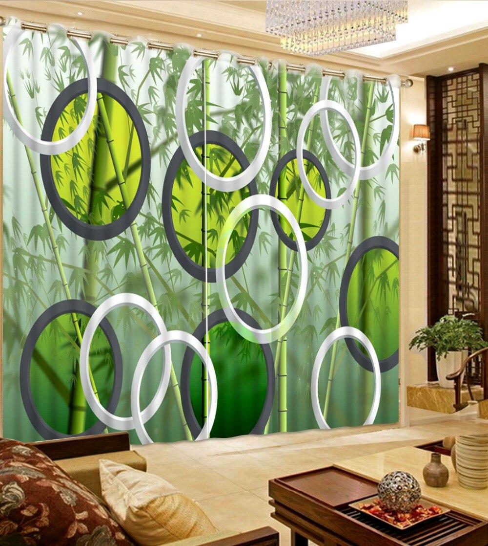 Vlastní libovolné velikosti evropské záclony 3d bambusové záclony obývací pokoj okno módní výzdoba domácí dekorace do ložnice