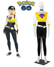 Pokemon GO Team Female Trainer Uniform Cosplay Costume Yellow