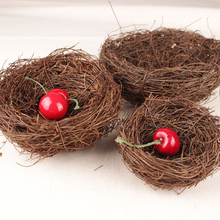 Rattan Vine Fake Bird Nest Christmas Tree Hanging Ornaments /Room Ornament Hot