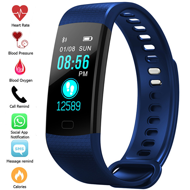 Fitness Bracelet Smart Wristbands Heart Rate Monitor Smart Watch Blood Pressure Fitness Tracker Sport Color Screen Men Watches y5 goral