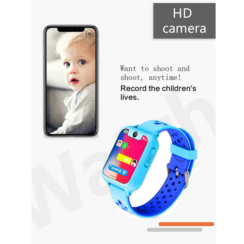 """S10 Kids GPS Smart Watches 2018 New HD 1.54"""" Touch Screen Camera SOS Call Back SIM Location Device Children Smart Watches"""