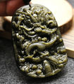 Wonderful Natural Gold Obsidian Hand Carved Dragon Lucky Amulet Blessing Pendants + free Necklace Fine Jade Fashion Jewelry