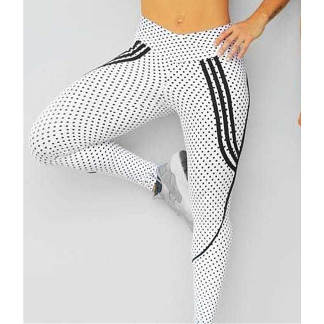 2 Styles Women Spot Printing High Waist Leggings