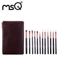 MSQ Newest 12pcs Makeup Brushes Set Maquiagem Rose Gold Make Up Brushes Soft Animal Or Synthetic