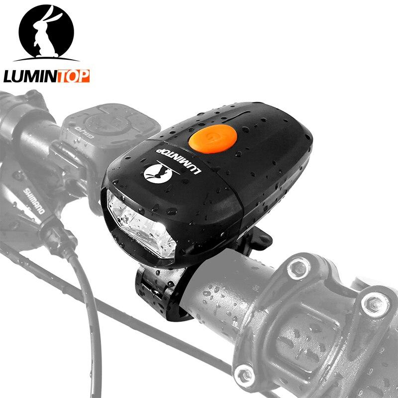 LUMINTOP Usb Rechargeable Anti-éblouissement Lumière De Vélo 360-degrés rotatif Vélo lumière avec Détachable et réglable support de vélo