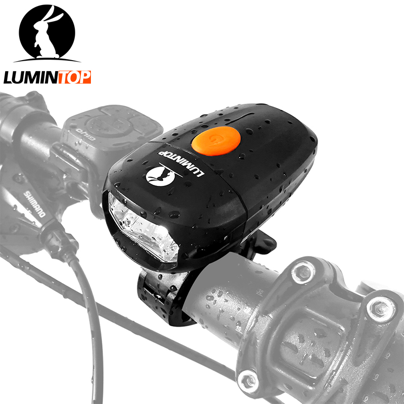 LUMINTOP Usb Rechargeable Anti-glare Bike Light 360-degree rotatable Cycling light with Detachable and adjustable bike mount