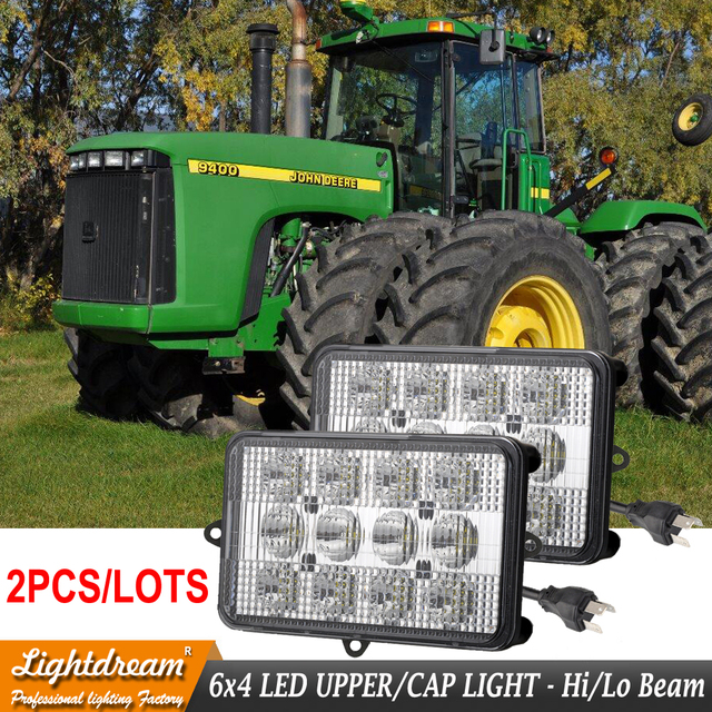 US $109 0 |6x4 Led Tractor work lights For John Deere Windrowers 4890 4895  4990 4995 Forage Harvesters 7700 7800 7950 Agricultural Leds x2-in Light