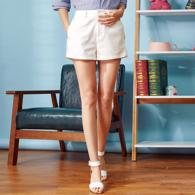 Veri gude 2017 mulheres sólidos calções material de espessura média 100% algodão Nova Chegada Iluminado Solto Para Presente Da Menina Primavera E verão