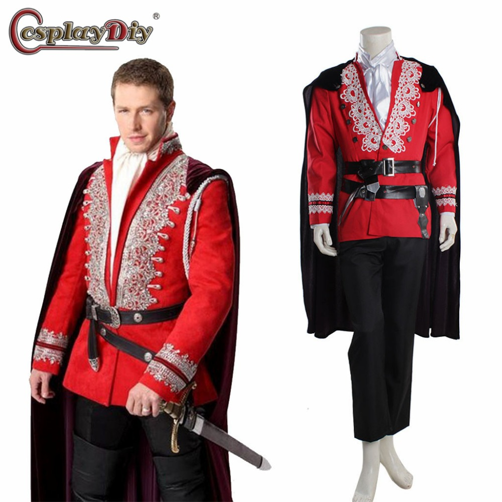 Once Upon A Time Costumes: Cosplaydiy Once Upon A Time Prince Cosplay Costume Red