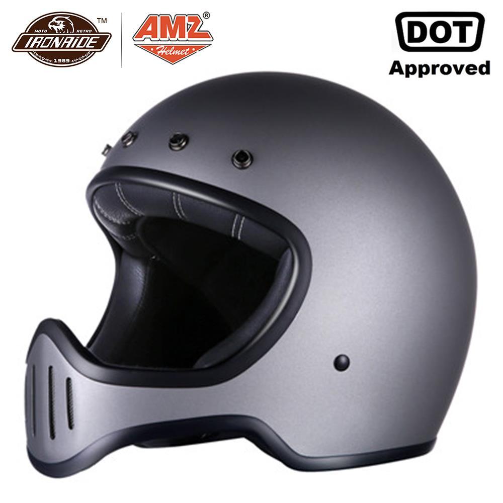 AMZ Motorcycle Helmet Fiberglass Motocross Helmet casco moto Motorbike Full Face cascos para moto DOT Certification
