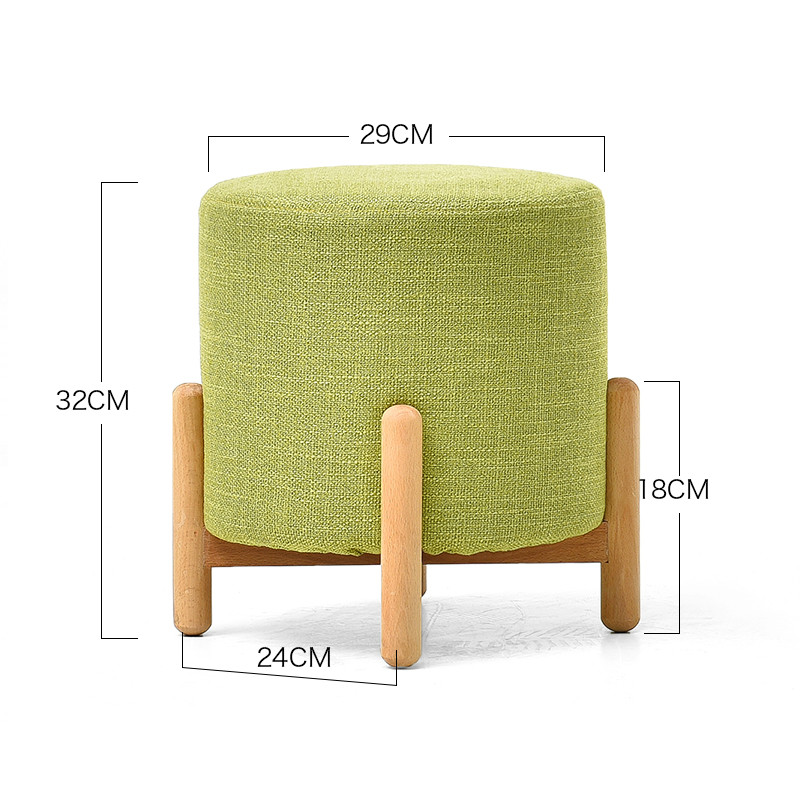 Small Stool Living Room Home Fabric Stools Children Solid Wood Sofa Stool Fashion Creative Shoes Bench Ottoman Taburete in Stools Ottomans from Furniture