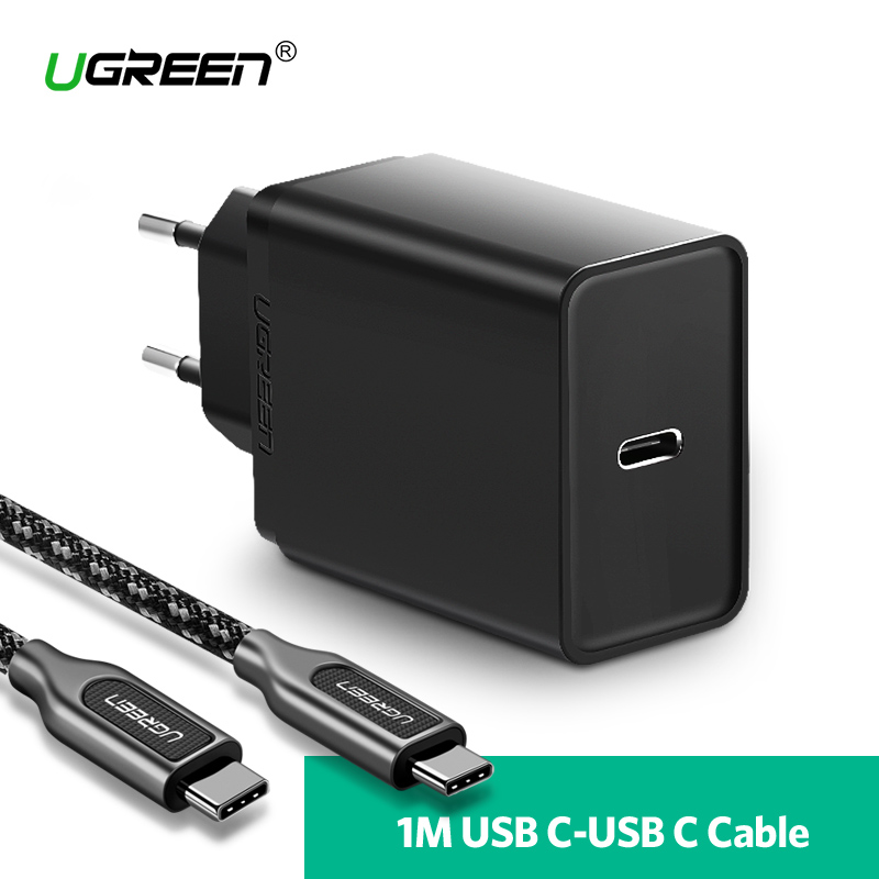 Ugreen 30 w Tipo C Carregador USB para Huawei P20 Pro Rápido Carregador de Telefone Celular para o iphone 8 Xs Max carregador para Samsung Galaxy S9 PD