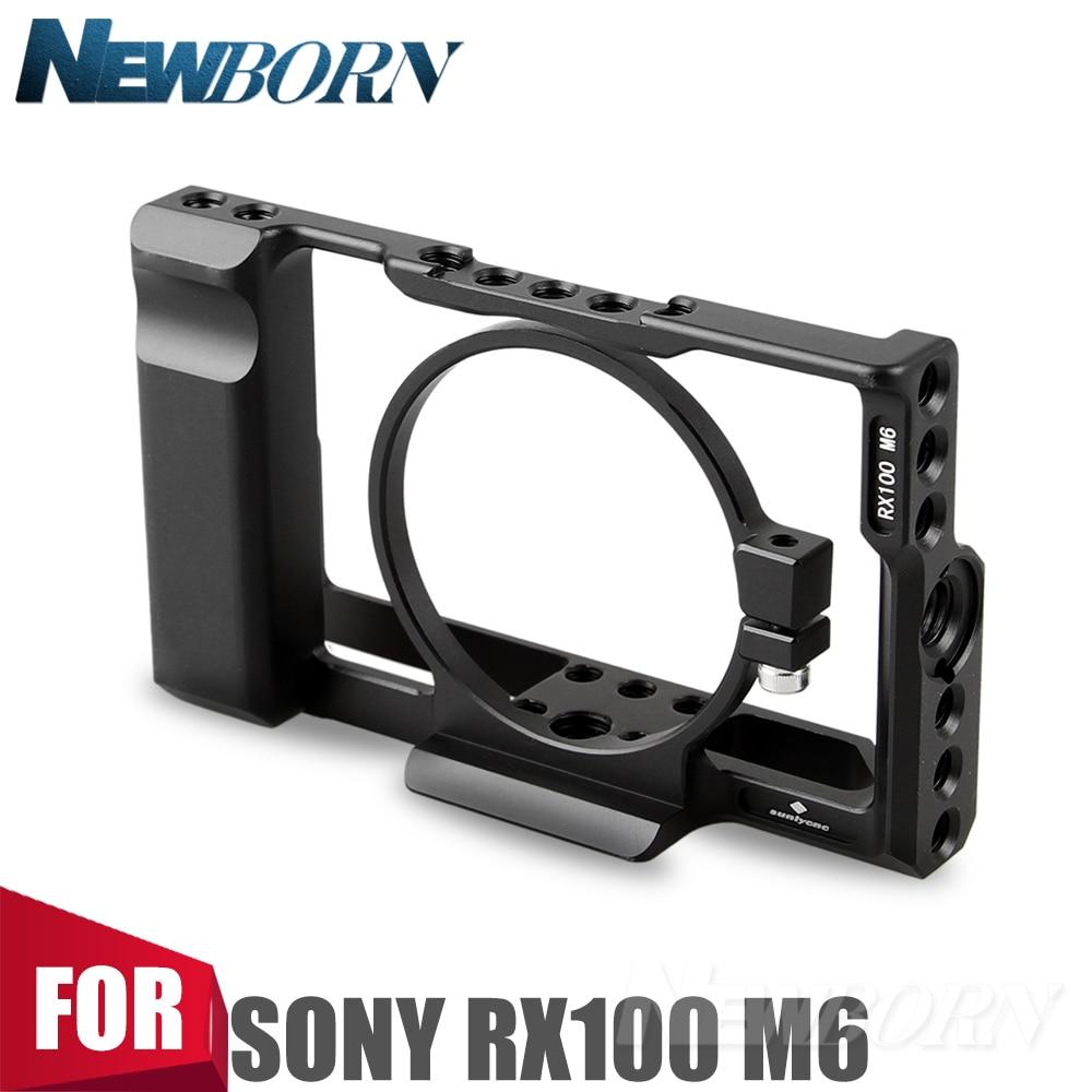 цены на New Sonovel Aluminum Alloy Camera Cage Camera Stabilizer for Sony RX100 M6 в интернет-магазинах