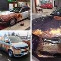 2015 Ferrugem Película de Segurança 50x152 cm adesivos de Carro Adesivos de Carro De Fibra De Carbono de Ferro Ferrugem Colorido Autocolante Corpo Do Carro Da Motocicleta adesivo