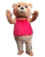 Положительные отзывы продавец новый Тед костюм Мишка талисман костюм Бесплатная доставка