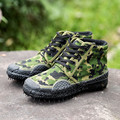 Outdoor mens Tactical Desert Camouflage Hiking Travel Boots Leather Autumn Spring Ankle male Canvas hight Working CS shoes