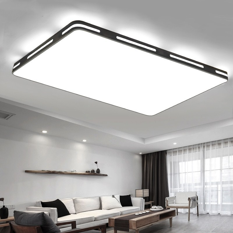 Modern Led Ceiling Light Rectangle Remote Control Ceiling Lamp Kitchen Light Fixtures For Living Dining Room Surface Mount Lamp Ceiling Lights Aliexpress