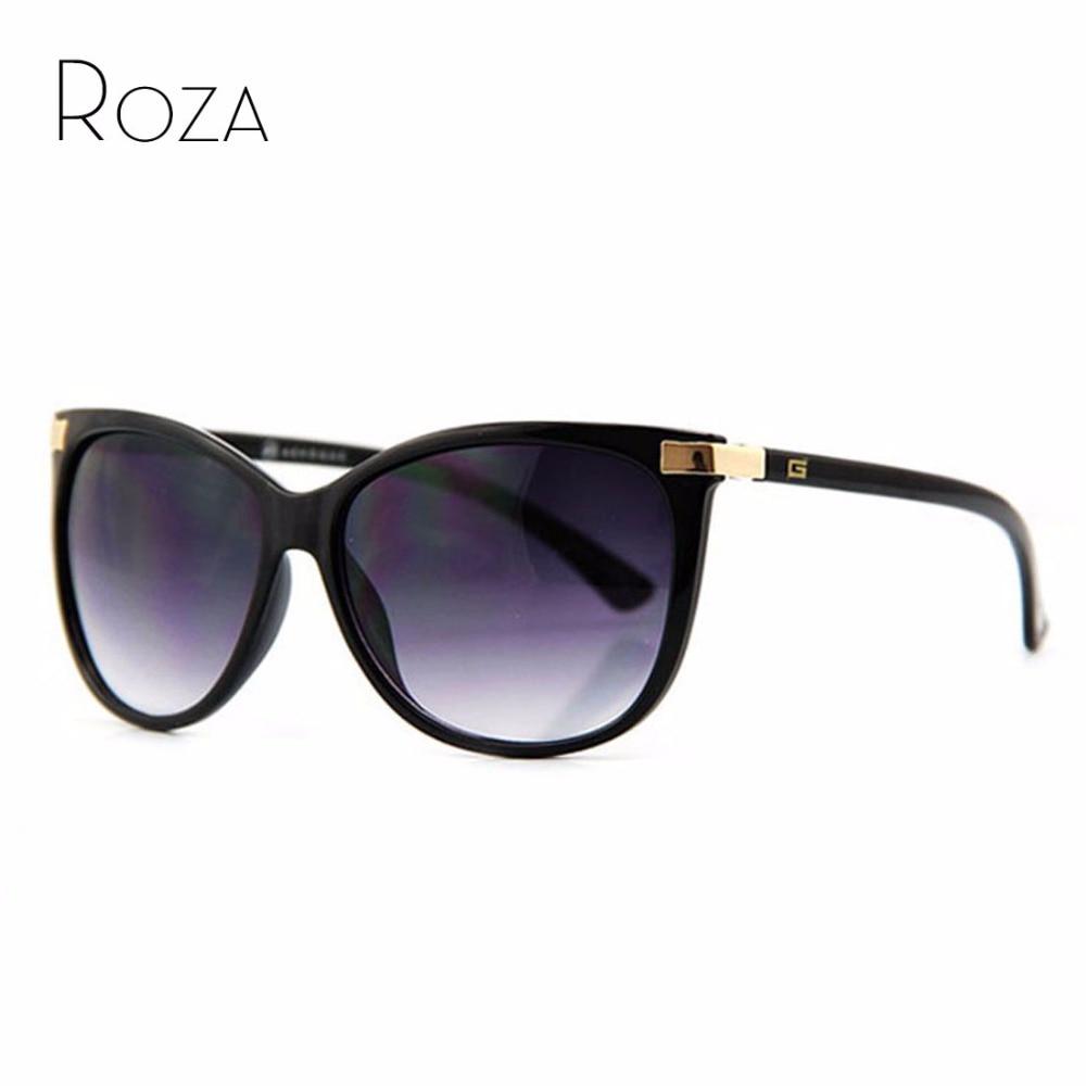 ROZA Brand Designer Hot Selling Sunglasses Women Cat Eye Oversize Frame Mirror Lens Sun Glasses CE UV400 AE0098