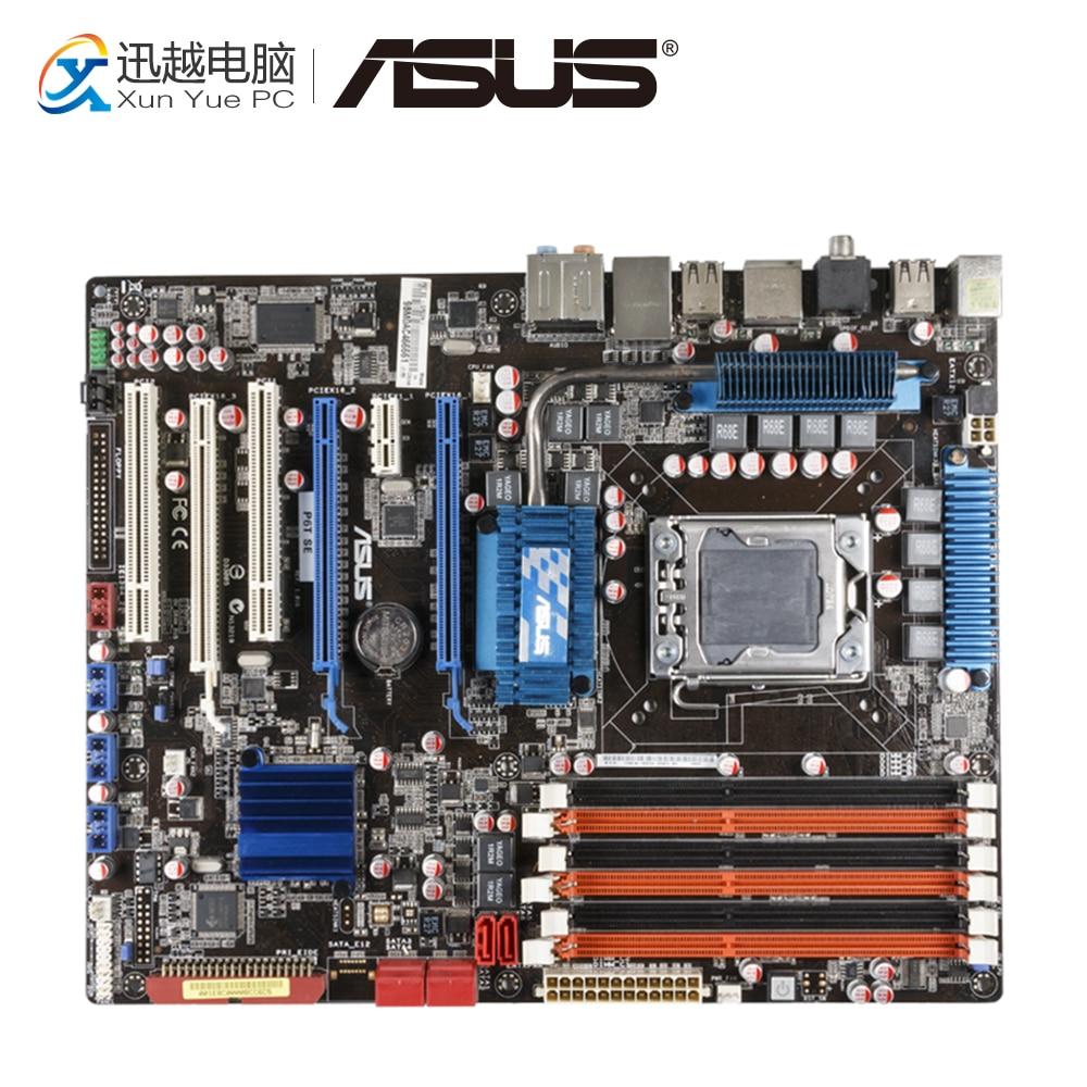 Asus P6T SE Desktop Motherboard X58 Socket LGA 1366 i7 DDR3 SATA2 USB2.0 24G ATX netac u188 blue and white porcelain pattern usb 2 0 flash drive white blue 4gb