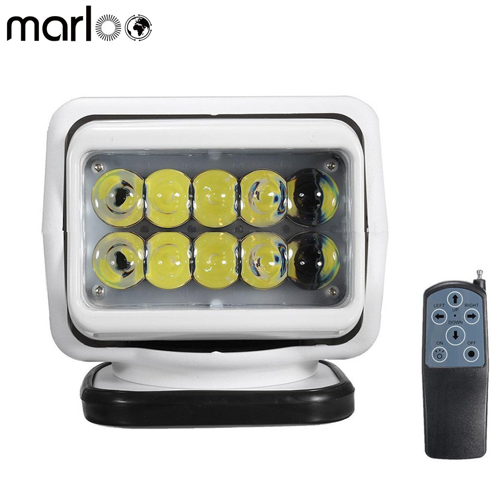 Marloo Magnet Base 360 degree Rotating Remote Control 50W LED Search Light Emergency Lighting Construction Light Boat 4x4 Truck