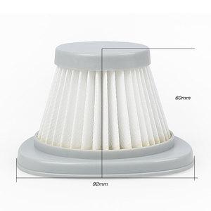 Image 2 - 5 PCS الأبيض فلتر هواء مانع للجسيمات عالي الكفاءة + 5 PCS hepa تصفية القطن فراغ نظافة أجزاء من فراغ نظافة فلتر عنصر DX118C DX128C