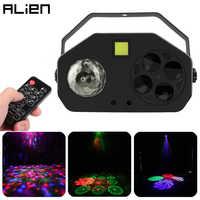 ALIEN télécommande rvb 4 en 1 LED Gobo stroboscope boule magique Laser projet DMX effet d'éclairage de scène DJ Disco fête vacances lumière de mariage