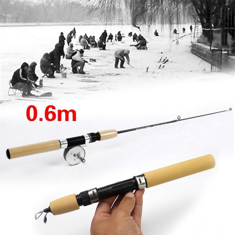 Ice Fishing Rod Pole Winter Shrimp Portable Winter Fishing Rods 60cm 80cm 100cm