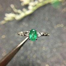купить shilovem 925 sterling silver green Emerald Ring fine Jewelry Customizable women trendy wedding  open wholesale xkj040601agml по цене 2899.64 рублей