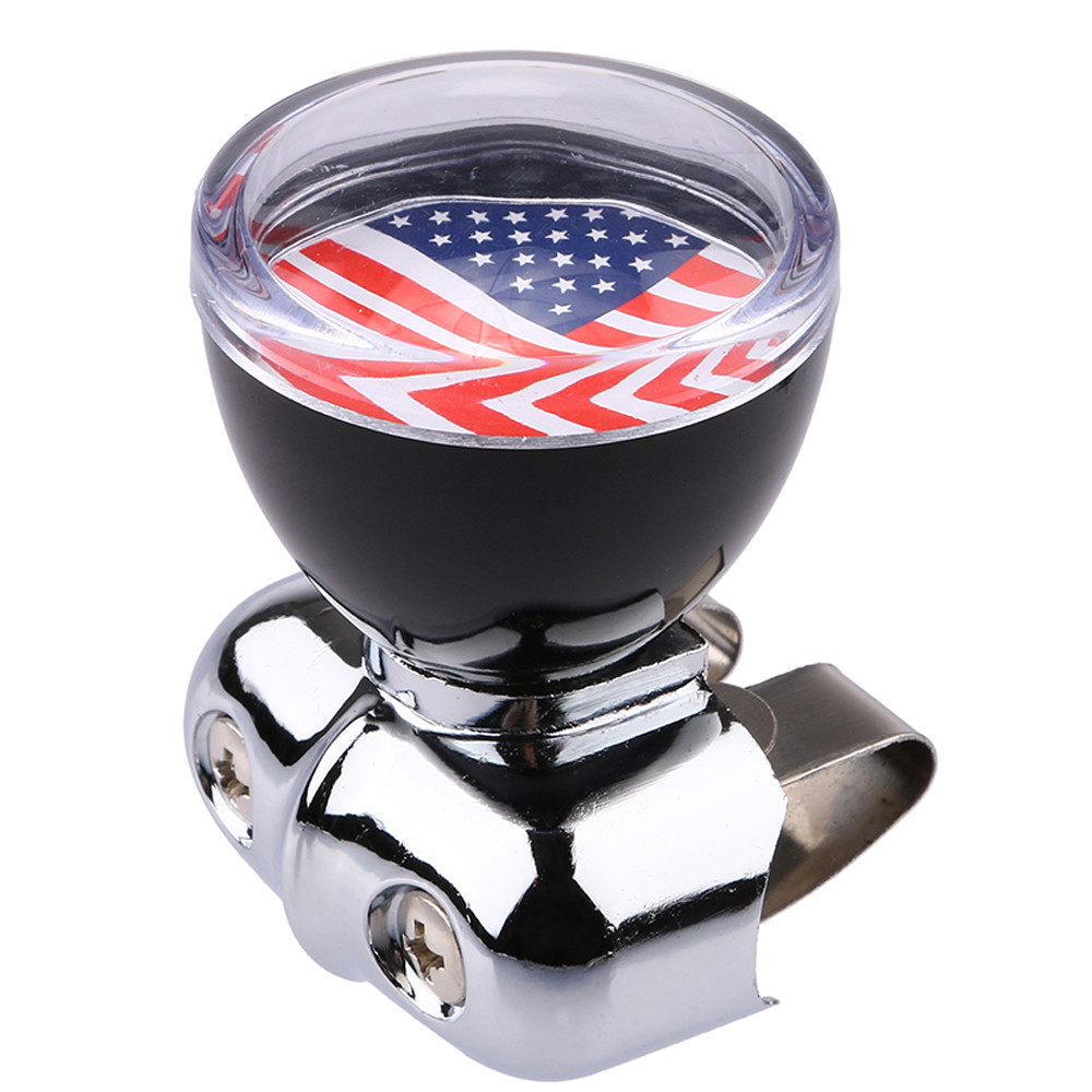 Car Styling Power Assisted Ball,USA American Flag Steering Wheel Spinner Suicide Knob Handle for Universal Car USPS dropshipping