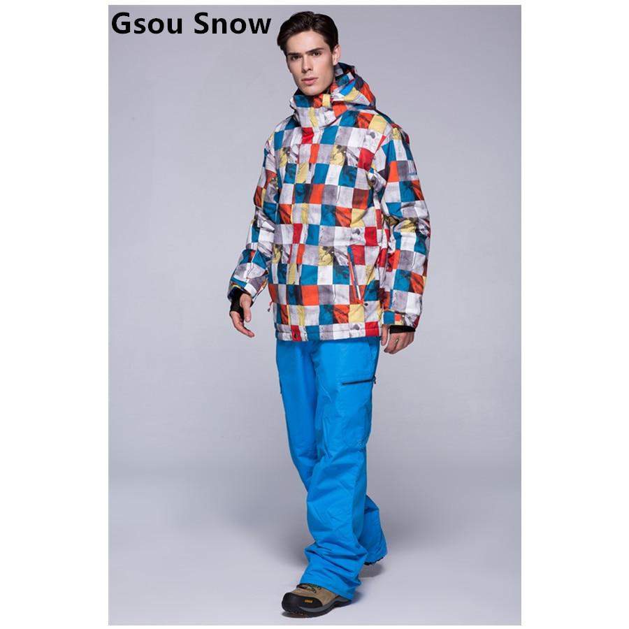 GSOU neige hiver nouvelle veste de ski et pantalon de ski loisirs de plein air hommes imperméable respirant combinaison de ski homme double planche combinaison de ski - 3