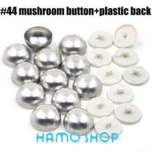 Free Shipping 50 Sets/lot #44 Aluminum Mushoroom Shape 2.75cm/27.5mm Round Fabric Covered Cloth Button Cover Metal
