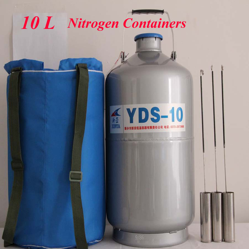 10L High Quality Liquid Nitrogen Container Cryogenic Tank Dewar with Straps Storage Cans YDS-10 yds 2 30 2l small capacity of the liquid nitrogen tank