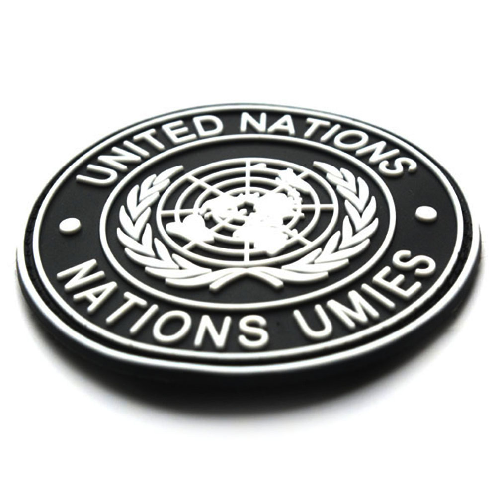 International U.N UN United Nations Genuine Shoulder Badge Black E5M1