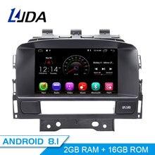 LJDA Android 8,1 dvd-плеер автомобиля для система навигации для Buick Verano VAUXHALL OPEL Astra J gps навигации 2 Din автомагнитолы wi-fi-мультимедиа стерео SD